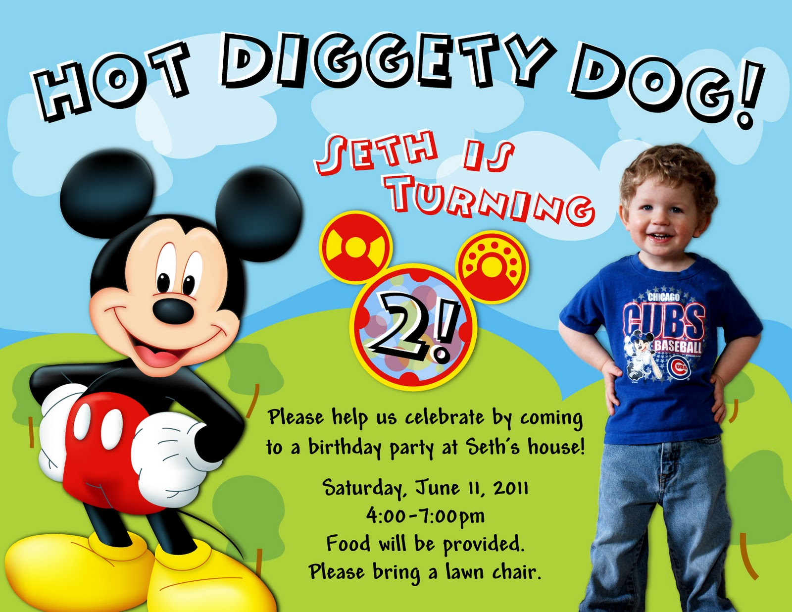 second birthday invitation