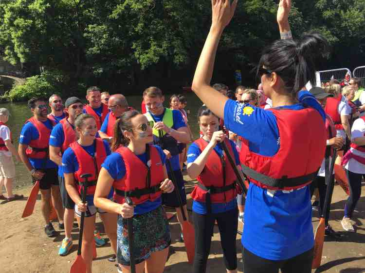 The team at Saltaire Dragon Boat Festival