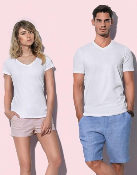 Premium T-shirt met V-hals