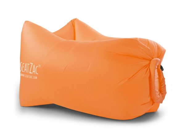 oranje lucht zitzakken bedrukken met logo air lounger orange