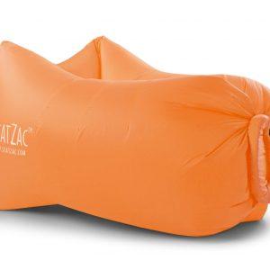 oranje lucht zitzakken bedrukken met logo air lounger orange