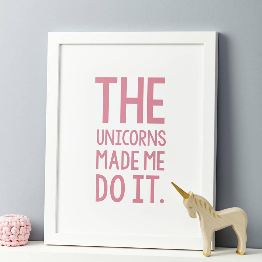 unicorns made me do it frame hout