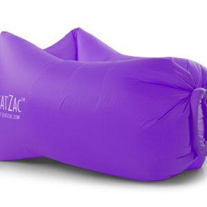 paarse lucht zitzakken bedrukken met logo air lounger