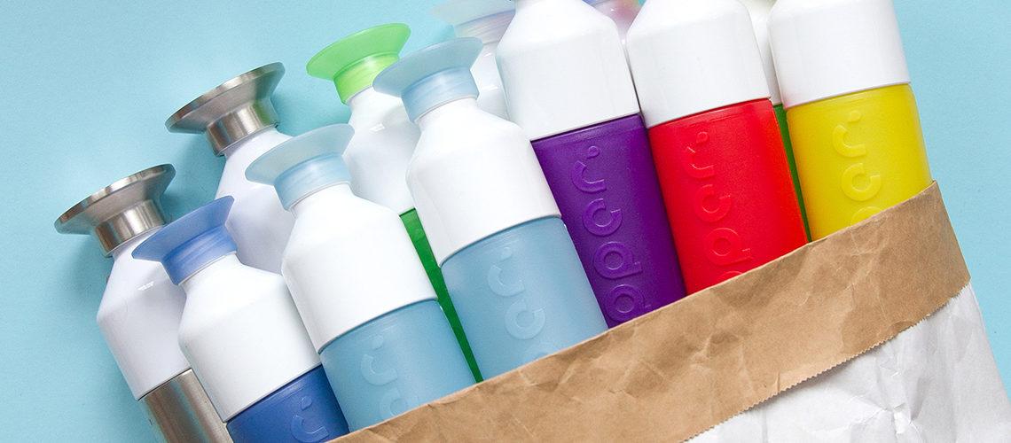 dopper duurzame waterflessen kleuren palet