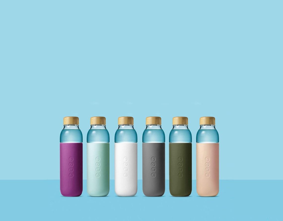 duurzame waterflessen soma bottle kleuren