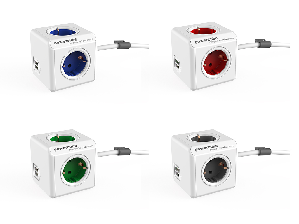 powercube bedrukken nieuwste versie 4 kleuren extended usb relatiegeschenk tech gadget