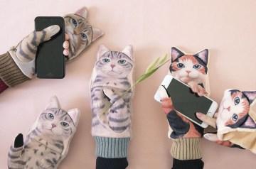 relatiegeschenk voor kattenliefhebbers handschoenen poesjes kawaii