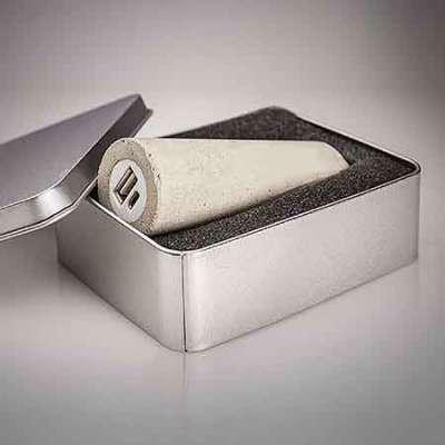 powerbank beton relatiegeschenk verpakking