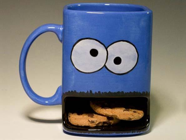 koekjes mok koffiebeker met koekjes houder