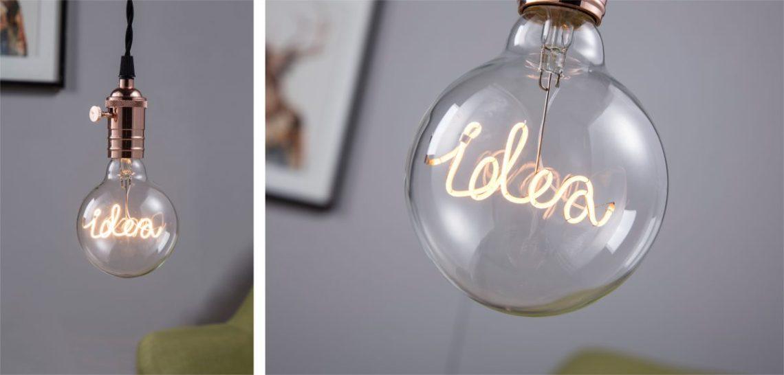 unieke led lamp logo relatiegeschenk vintage gloeilamp