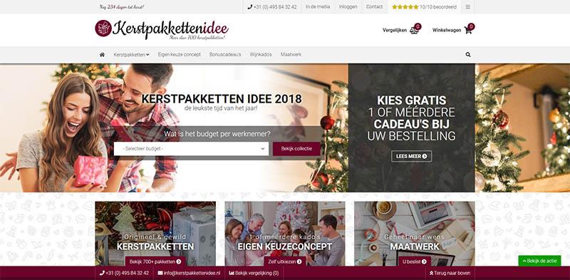 kerstpakkettenidee webshop vergelijken