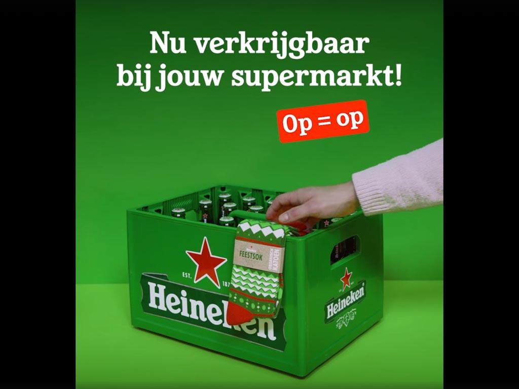 7-in-1 Heineken kerstsokken gratis bij 1 krat bier