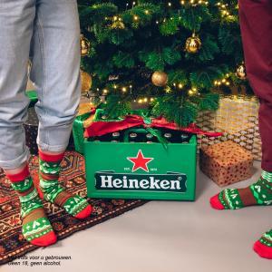 heineken kerstsokken 2018 feestsokken premium cadeau bier