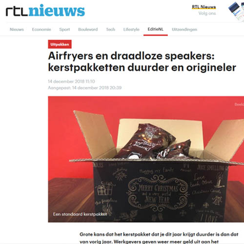 gemiddelde waarde kerstpakket 2018 RTL duurder origineler