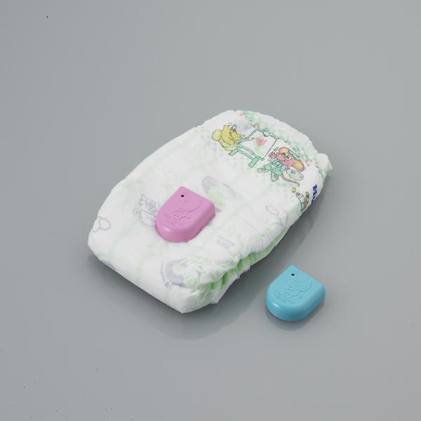 poepalarm baby gadget roze blauw luier