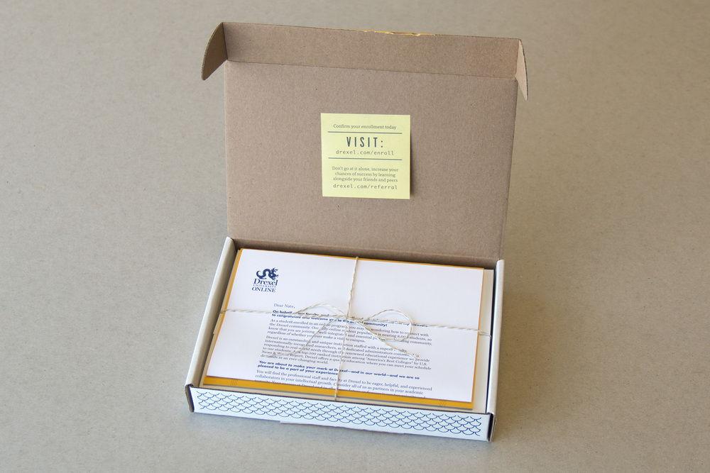 onboarding kit Drexel University thuisstudie doos cadeau