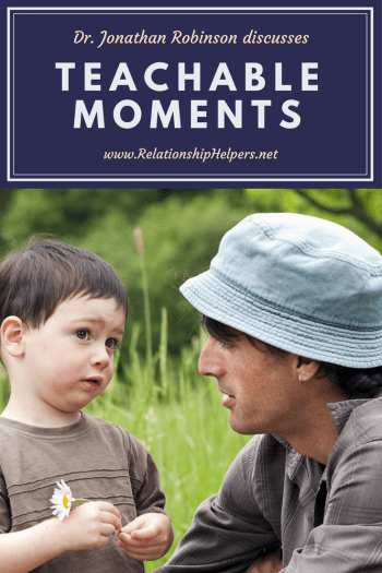 "TURN DIFFICULT MOMENTS INTO ""TEACHABLE MOMENTS""--Learn from Dr. Jonathan C. Robinson and his book ""Teachable Moments: Building Blocks of Christian Parenting"". Dr. Robinson has over 40 years of experience counseling children and teens. Learn how to have a better relationship with your children today!"