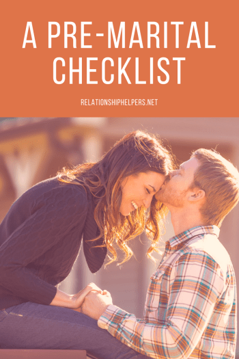 "Getting married is the easy part. Staying married takes a lot of work. Take some of the guessing game out and take a look at my ""Pre-Marital Checklist."" If you are a married-couple-to-be or a couple that's been married for years, you will find questions on my checklist that will help you get to know your mate better!"