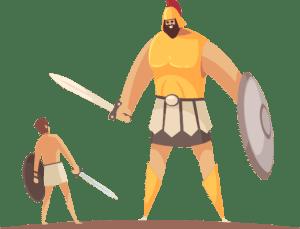 David versus Goliath.