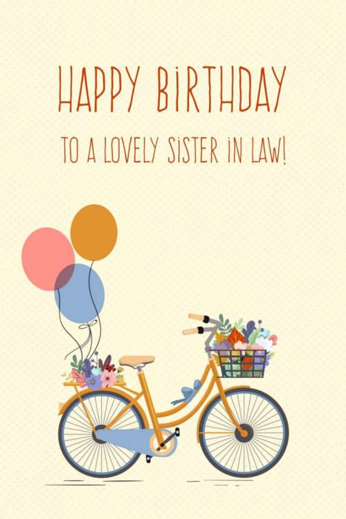 birthday wish for sister in law quotes
