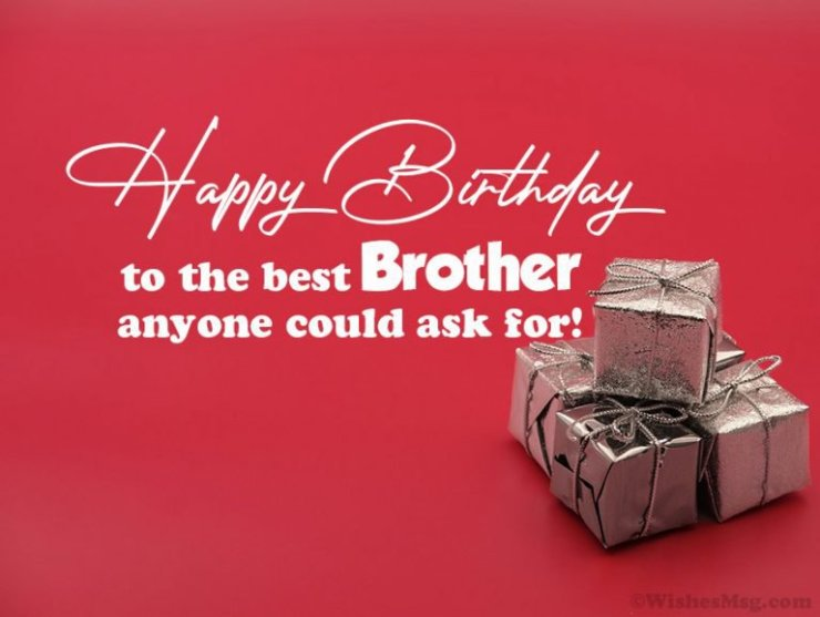 cute birthday wish for brother