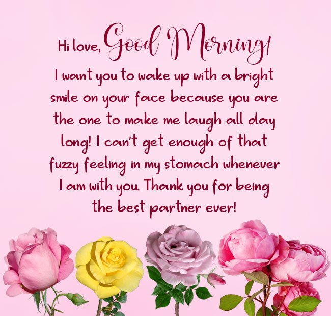 cute good morning paragraphs for him