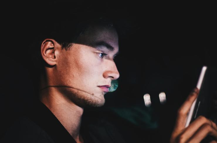 texting at night