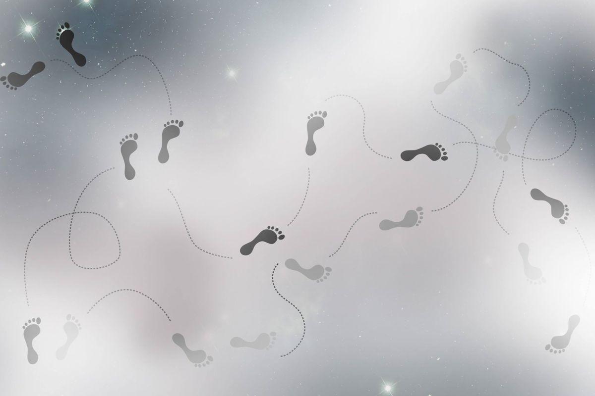 Fotspår.