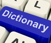 Dictionary Key Showing Online Or Web Definition Reference