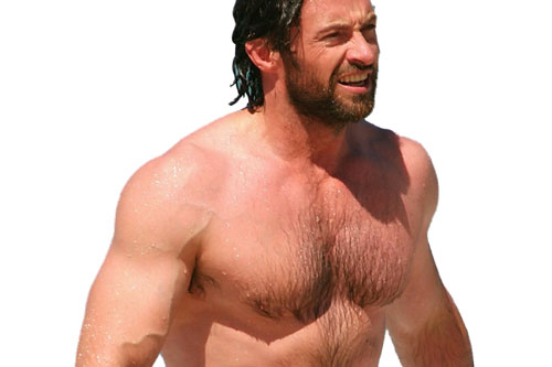hugh jackman trains for size and strength