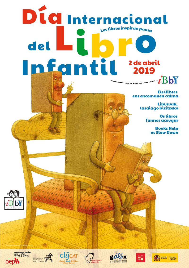 día internacional del libro infantil, 2019, lituania, cartel