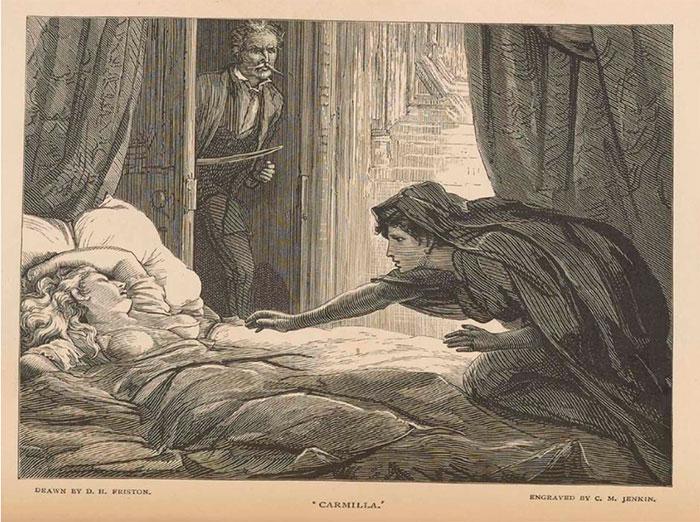 carmilla, ilustración, d. h. friston