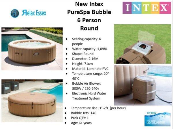 Intex pureSpa 6 person 2020 model