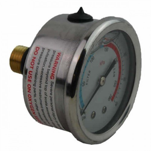 Pressure Gauge Deluxe Glycerine Filled Gau002 Supplied by Relax Essex, Pool< Hot Tub supplies in Grays Essex RM16 2YL Call us For Trade counter