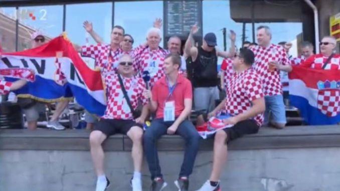 Rusija 2018 Navijači Iz Livna Uz Zastave Herceg Bosne