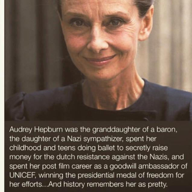 32 Relax and Succeed - Audrey Hepburn was the granddaughter