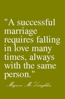 46 Relax and Succeed - A successful marriage requires falling