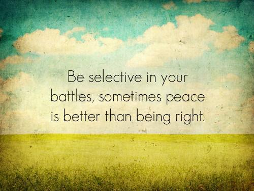 54 Relax and Succeed - Be selective in your battles