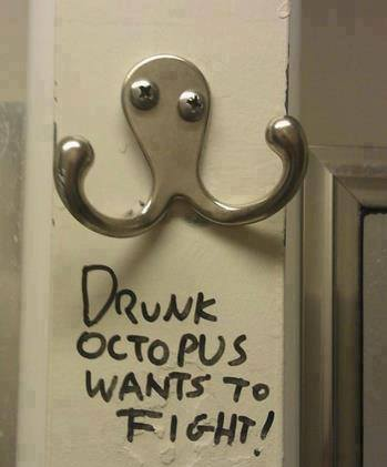 425 Relax and Succeed - Drunk octopus wants to fight
