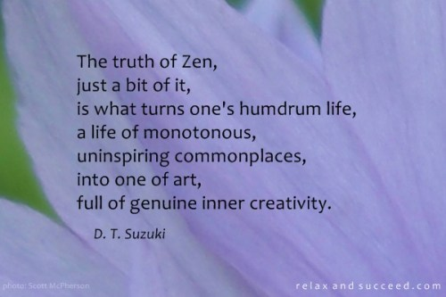 521 Relax and Succeed - The truth of zen