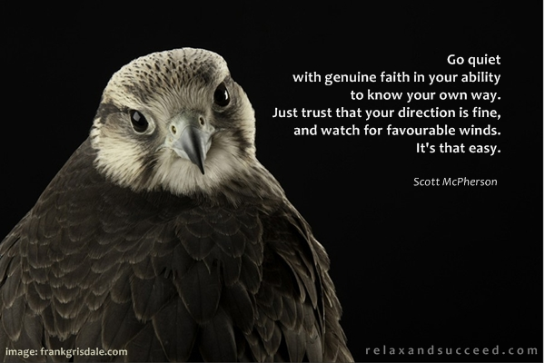 550 Relax and Succeed - Go quiet with genuine faith