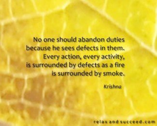 553 Relax and Succeed - No one should abandon duties
