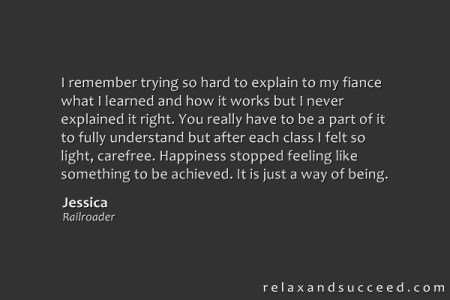 Relax and Succeed - Testimonial - Jessica OKeefe 1
