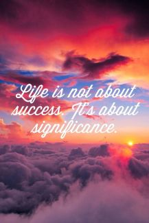 680 FD Relax and Succeed - Life is not about success