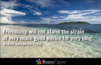 739 Relax and Succeed - friendship will not stand the strain