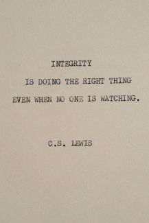 859 Relax and Succeed - Integrity