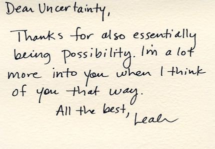 872 Relax and Succeed - Dear uncertainty