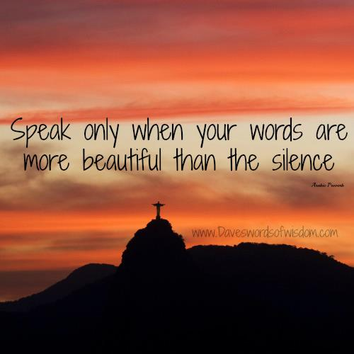 896 Relax and Succeed - Speak only when your words