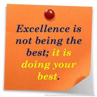 923 Relax and Succeed - Excellence is not being the best