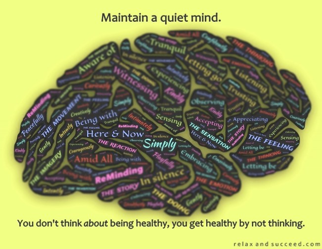 1259 Relax and Succeed - Maintain a quiet mind